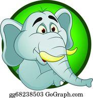 Blue-Elephant - Elephant Cartoon
