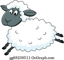 Cartoon-Farm-Animals-Card - Jumping Sheep