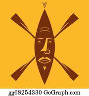 Tiki-God - Rowing Mask