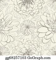 Chrysanthemum - Chrysanthemum Floral Seamless