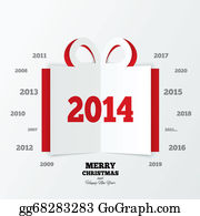 2014-Happy-New-Year-Box - Christmas Gift Box Cut The Paper. New Year 2014