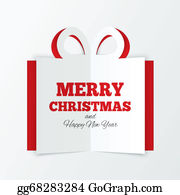 2014-Happy-New-Year-Box - Christmas Box Cut The Paper. Cutout Paper Gift Box