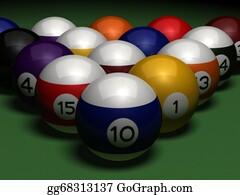 Billiards - Billiards On Green Table
