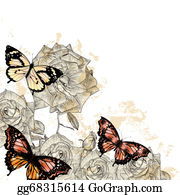 Classic-Victorian-Pattern - Beautiful Floral Background With Butterflies And Roses