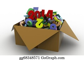 2014-Happy-New-Year-Box - 2014 In A Box. 3d Illustrations