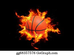 Flaming-Basketball - Basketball In Flames