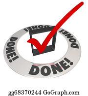 Perform - Done Check Mark In Checkbox Mission Job Accomplishment Complete