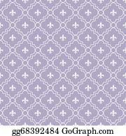 Fleur-De-Lys - White And Pale Purple Fleur-De-Lis Pattern Textured Fabric Background That Is Seamless And Repeats
