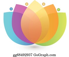 Golden-Lotus-Flower-Logo - Multicolored Lotus Flower Logo