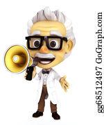 Professor - Professor With Megaphone