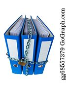 Self-Storage - Closed File Folder With Chain
