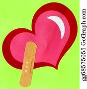 Band-Aid - Heart Shape And Band-Aid