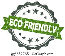 Eco-Friendly-Label - Eco Friendly Green Grunge Vintage Seal Isolated On White