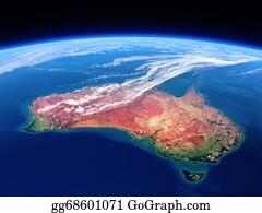 Australia - Australia Seen From Space - Earth Daytime