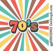 70s - 70s Vector Vintage Art Background