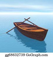 Canoe - Wood Boat - 3d Render