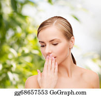 Sense-Of-Smell - Young Woman Doing Hush Gesrute