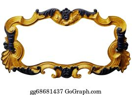 Classic-Victorian-Pattern - Ornament Frame Of Gold Plated Vintage Floral ,victorian Style