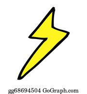 Lightning-Bolt - Cartoon Lightning Bolt Symbol