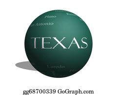 Prairie - Texas State Word Cloud Concept On A 3d Sphere Blackboard