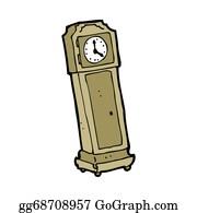 Grandfather-Clock - Cartoon Grandfather Clock