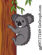 Eucalyptus - Koala Cartoon