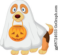 Halloween-Dog - Cartoon Dog Dressed Up As A Spooky
