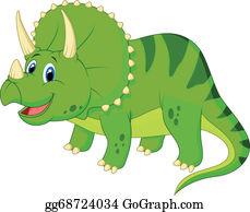 Horned-Lizard - Cute Triceratops Cartoon