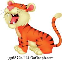 Growl - Tiger Cartoon Roaring