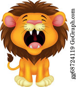 Growl - Lion Cartoon Roaring