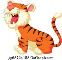Growl - Cute Tiger Cartoon Roaring
