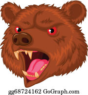 Growl - Bear Head Mascot Cartoon Character