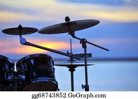 Drum-Set - Drums At Sunset
