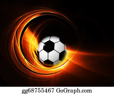 Football-Abstract - Burning Football/soccer Ball