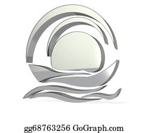Canoe - Silver Boat Logo