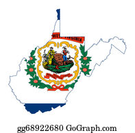 Map-Of-West-Virginia - State Of West Virginia Flag Map