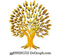 Geriatrics - Gold Tree Prosperity Symbol 3d Logo