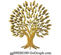 Geriatrics - Gold Tree Wealth Symbol 3d Logo
