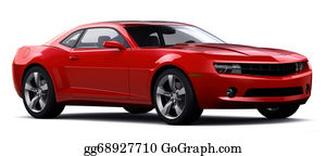Muscle-Car - Red Sports Car