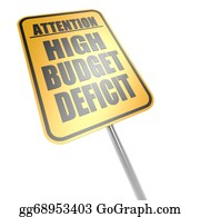 Government-And-Economy - High Budget Deficit Road Sign