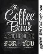 Coffee-House - Poster Lettering Coffee Break Chalk