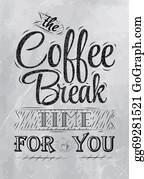 Coffee-House - Poster Lettering Coffee Break Coal