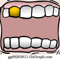 Teeth Cartoon - Royalty Free - GoGraph