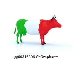 Butchers-Meat - Italian Cow 3d Illustration
