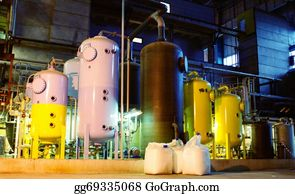 Concrete-Pump - Water Treatment Tanks At Power Plant
