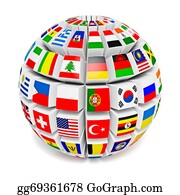 Globe-Flags - Globe Sphere With Flags Of The World