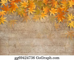 Fall-Harvest-Background - Fall Leaves Border - Autumn Design