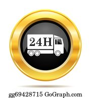 Time-For-Shopping - 24h Delivery Truck Icon