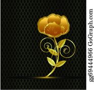 Golden-Lotus-Flower-Logo - Gold Vintage Flower Logo