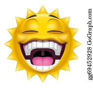 Laughing -  Sun Character Laughing